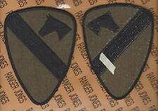 US Army 1st Cavalry Division uniform 5 inch OD Green & Black patch m/e