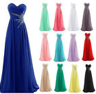 Formal Chiffon Long Evening Ball Gown Party Prom Sleeveless Bridesmaid Dresses