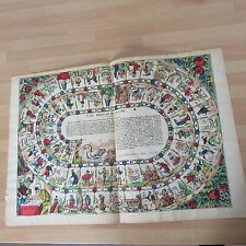 REGLE DU JEU DE L'OIE EPINAL VERS 1900 AUTHENTIQUE GRAVURE ANCIENNE