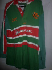 "2001-2003 Leicester Tigers HOME Rugby Union Camicia Adulto SMALL 36-38 "" (31700)"