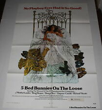 5 BED BUNNIES ON THE LOOSE 1 SH ORIG ADULT MOVIE POSTER INT'L SEX COMPETITION