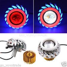 High Low Beam LED 30W Headlight for Motorcycle Angel Eyes White Devil Eye light