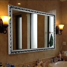 Hans&Alice Vintage Large Wall Mirror In Baroque Silver 32''X24'' Inches