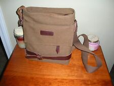 """NEW Brown Canvas Leather Watchtower WITNESSING Bag Mens or Womens Jehovah"