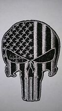 Punisher patch skull police law enforcement swat subdued velcro skull