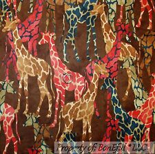 BonEful Fabric FQ Cotton Quilt Brown Giraffe African Skin Print Jungle Safari US