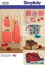 Simplicity Pattern 1079 KNITTING AND CROCHET STORAGE ACCESSORIES organizers
