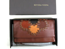 BOTTEGA VENETA COGNAC LAMBSKIN WALLET, NEW IN BOX, ITALY