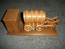 Vintage Covered Wagon Motion Music Box John Denver's Take Me Home Country Roads