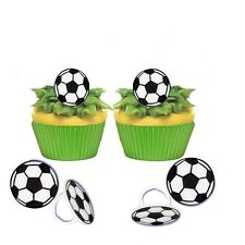 24 Soccer Game Ball Cupcake Rings Birthday Favors Prizes Bag Filler Party Supply