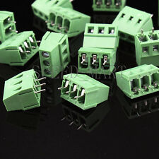 50 pcs KF128-3P 3-Pin 5.08mm/0.2'' PCB Universal Screw Terminal Block Connector