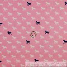 BonEful Fabric FQ Cotton Quilt Light Pink Tone Blue Horse Shoe Cowgirl Stripe US