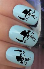 WATER NAIL TRANSFERS PIRATE HAT SKELETON FIGURE TATTOO DECALS STICKERS *638