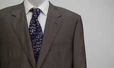 MENS CANALI SUIT JACKET WOOL SILK GREY FITTED SIZE 44 IN EXCELLENT