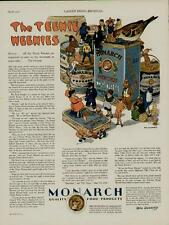 1928 MONARCH CO. THE TEENIE WEENIE PRODUCTS AD /  GREAT DELI ARTWORK