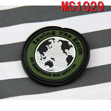 Outdoor Sport Saving the Earth Design Rubber Velcro Military Patch Badge Patches