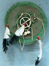 NATIVE AMERICAN INDIAN : PRAYER CATCHER WITH CREATURE DESIGN - OUR REF PC02