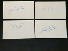 """Len Barker AUTOGRAPH 3x5 Index Card Signed """"Perfect Game"""" Rangers Indians Braves"""