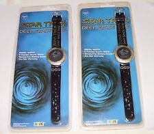 Vintage 1993 Star Trek Deep Space Nine 2 Digital Watches New Old Stock Sealed