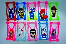 Universal Silicone Phone Case 3D cartoon cover elastic frame pack of 100pcs Sil1