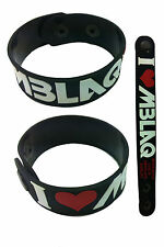 MBLAQ NEW! Rubber Bracelet Wristband Free Shipping! aa57 Black Smoky Girl
