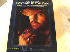 Toby Keith Love Me If You Can 2007 Photo Sheet Music