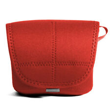 Pentax K-x K-m D-SLR Camera Neoprene Body Soft Case Cover Pouch Protect Bag Red