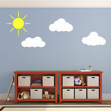 Sun and Clouds Wall Decals - Stickers for Child's Nursery Bedroom or Playroom