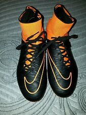 Nike Hypervenom Phantom II Leather FG Soccer Cleats Orange SZ 12 (747501-008)