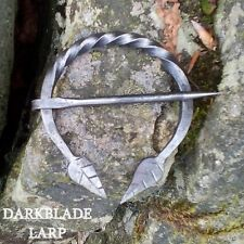 Leaf Cloak Pin Elven Medieval LARP Cosplay Viking Penannular Brooch