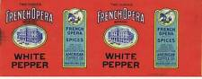 French Opera, white pepper, can label, American Coffee Co., New Orleans