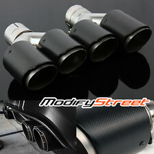 "2PC 2.5"" Inlet/3.5"" Outlet Carbon Fiber/Stainless Steel Dual Y-Pipe Exhaust Tip"