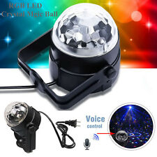 RGB LED Crystal Magic Rotating Ball Effect 3W Stage Light For Party Bar Disco DJ