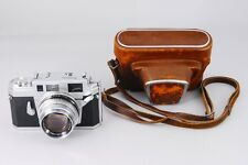 -Mint- Konica IIIA 35mm film Camera and Hexanon 50 1.8 with Case from Japan 107