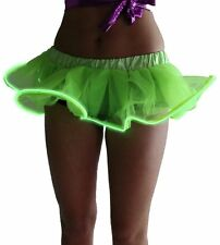 LED Light Up El Wire Tutu Fancy Stage Dancing Rave Evening Club Dress Mini Skirt