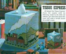 TISSUE EXPRESS TRAIN TISSUE BOX COVER PLASTIC CANVAS PATTERN INSTRUCTIONS