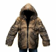 Sale!!! MEN'S WOMENS Bomber JACKET  Coyote  FUR, LEATHER, NEW L-XL