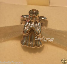 DIVINE ANGEL Genuine PANDORA Silver/14K GOLD Two 2 Tone CHRISTMAS Charm/Bead NEW