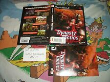 Dynasty Tactics PS2 CASE & MANUAL ONLY NO GAME Playstation 2