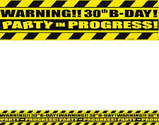 30th Birthday Party Caution Tape 1ct Party Tape Decoration Supplies