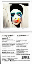 CD CARTONNE CARDSLEEVE 2T LADY GAGA APPLAUSE FRENCH LIMITED EDITION NEUF SCELLE