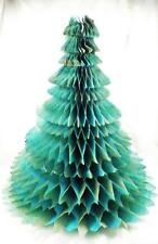 Vintage Christmas Tree Decoration Honeycomb Tissue Paper Table Top