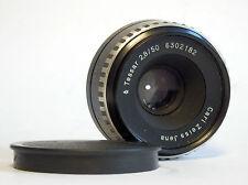 Excelent Vintage CARL ZEISS JENA TESSAR 2,8/50 Pentina lens Objektiv No.6302182