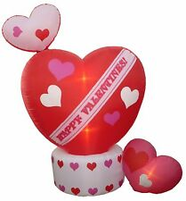 Valentines Day Inflatable Animated Rotating Top Heart Party Yard Lawn Decoration