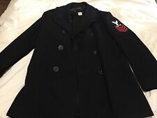USN US Navy Military Wool Pea Coat Peacoat Mens size 42L