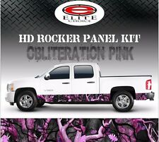 "Obliteration Pink Camo Rocker Panel Graphic Decal Wrap Truck SUV - 12"" x 24FT"