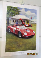 2005 CONCOURS D'ELEGANCE FERRARI LIMITED EDITION AUTO SHOW POSTER W/ COL!