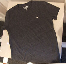 Excellent Abercombie & Fitch S Mens Teenager Young Adult Grey T Shirt FREE Post