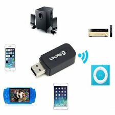 Bluetooth Wireless USB 3.5mm Stereo Audio Music Speaker Receiver Adapter Dongle