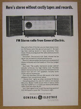 1964 GE General Electric T1500 FM Stereo Radio Hi-Fi photo vintage print Ad